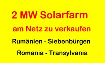 Solarfarm am Netz 13 % Rendite | EfG 12500-NI